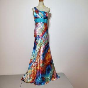 Cinderella Divine one strap open back prom dress